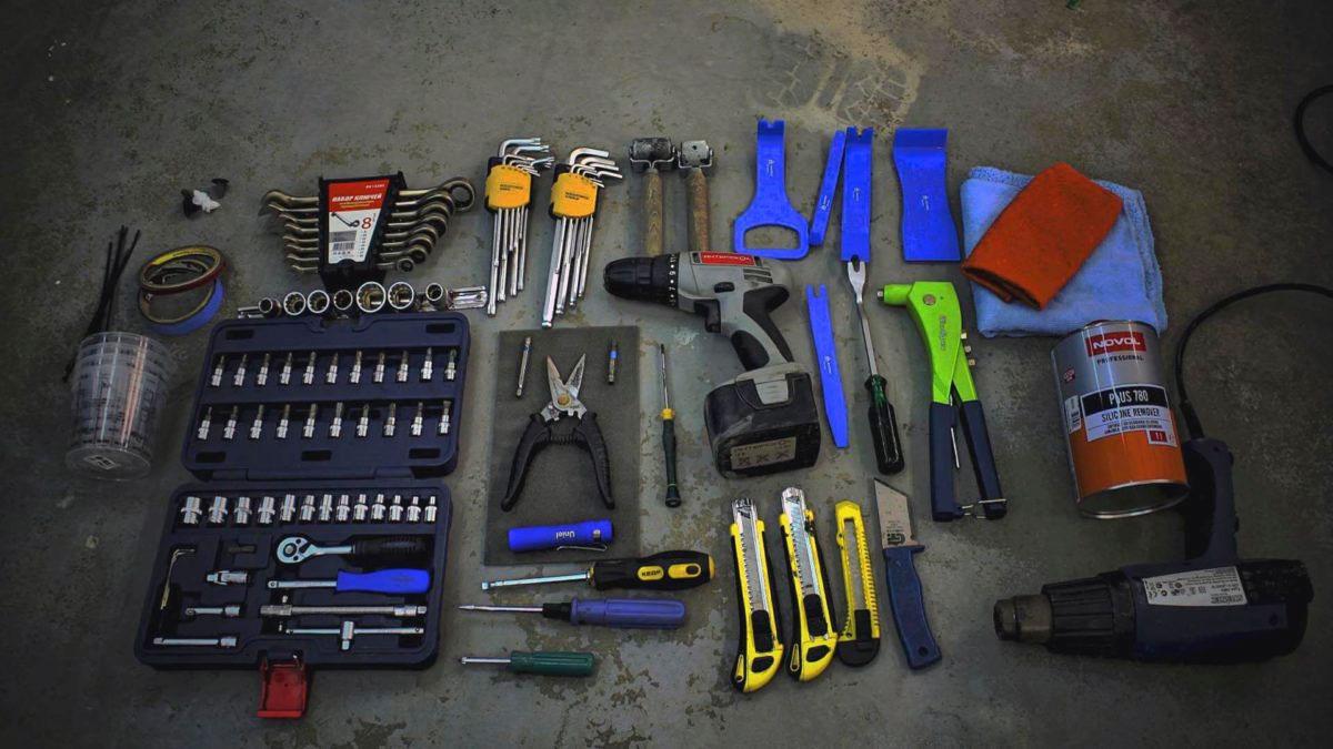 Инструменты для шумоизоляции салона автомобиля